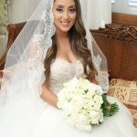 Romantic veil for Lebanon wedding