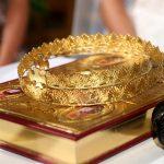 Maronite gold wedding crowns