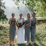 Bride and Bridesmaids in the woods