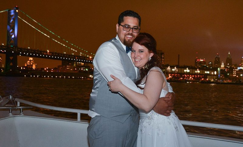 Heather and Jeff marry aboard the Spirit of Philadelphia