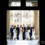 wedding ceremony on the balcony of the Melbourne Town Hall