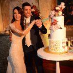 3-tier wedding cake cutting